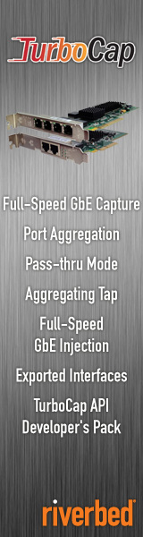 Riverbed TurboCap: Full-Speed GbE Capture; Port Aggregation; Pass-thru Mode; Aggregating Tap; Full-Speed GbE Injection; Exported Interfaces; TurboCap API Developer\'s Pack