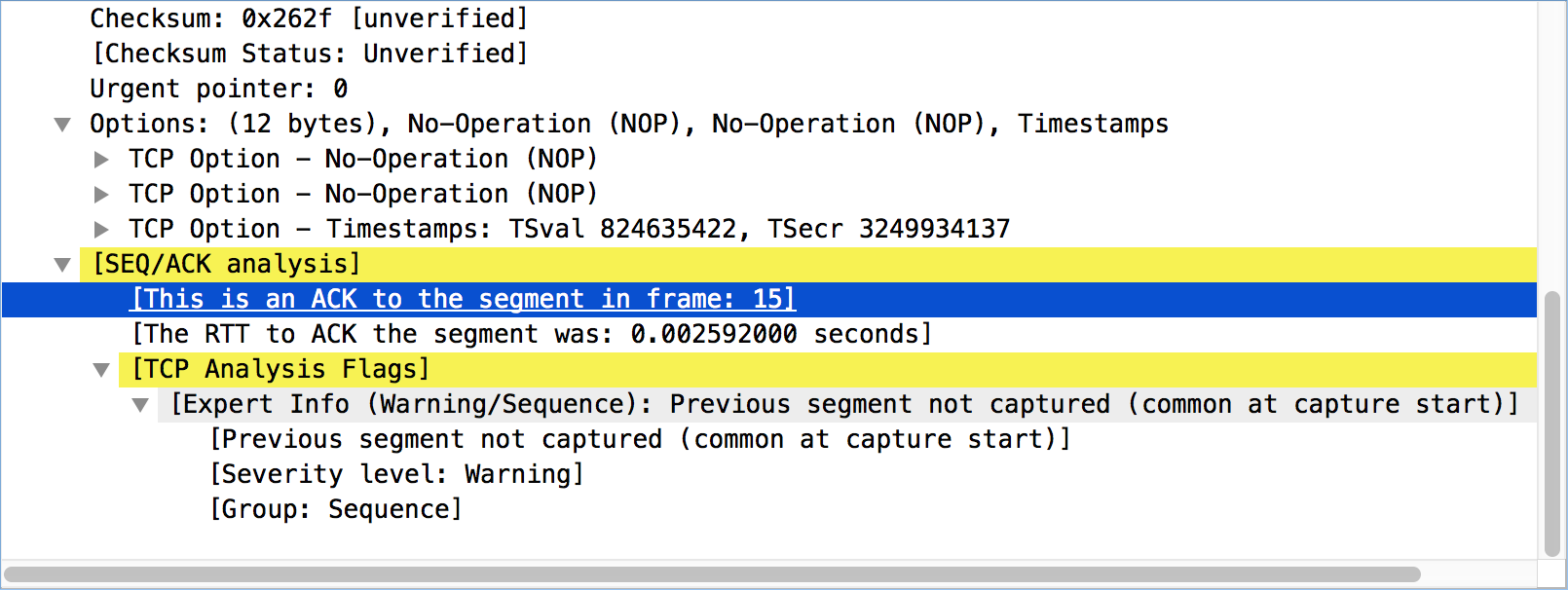7 5  TCP Analysis